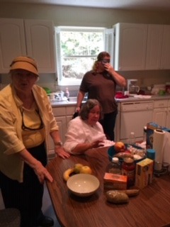 Cooking with Ruth Sager (Seated), Sarah  Brackett (Right) & Leonna Marx (Left)